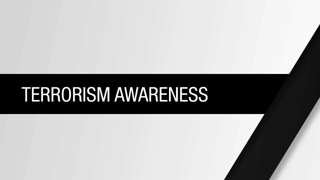 terrorism awareness Department of defense dod civilians and contractor training introduction   •designed to increase awareness of terrorism and improve ability to apply.